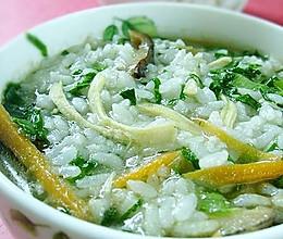 香菇鸡丝泡饭粥的做法