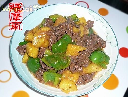 菠萝牛肉的做法
