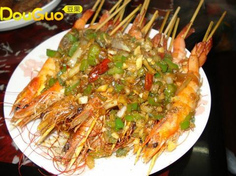 秘制串烧虾的做法