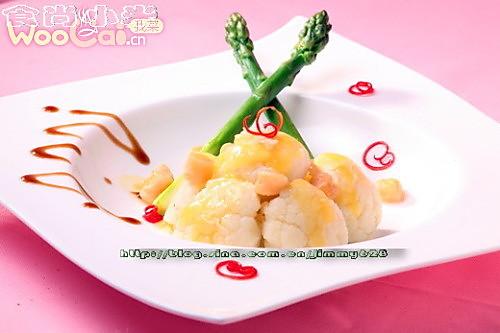 干贝焗菜花的做法