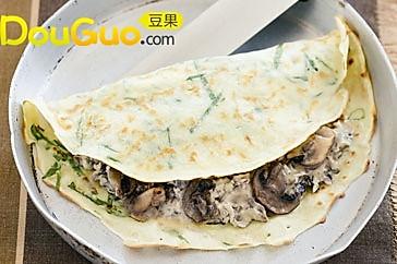 瑞士式菠菜蘑菇薄饼