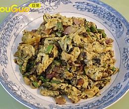 橄榄菜炒滑蛋的做法