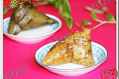 香菇鸡腿蛋黄粽子-过年粽子