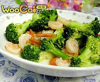 家常菜谱-西兰花炒虾仁的做法