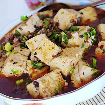 辣菇豆腐的做法