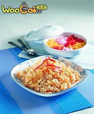 韩式泡菜拌饭的做法