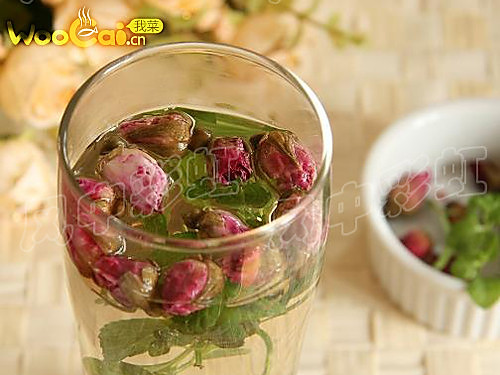 美白滋润 薄荷玫瑰花茶的做法