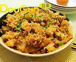 万圣节必学料理之南瓜蒸肉的做法