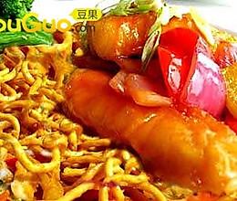 越南柠檬咖喱虹鳟鱼面 的做法