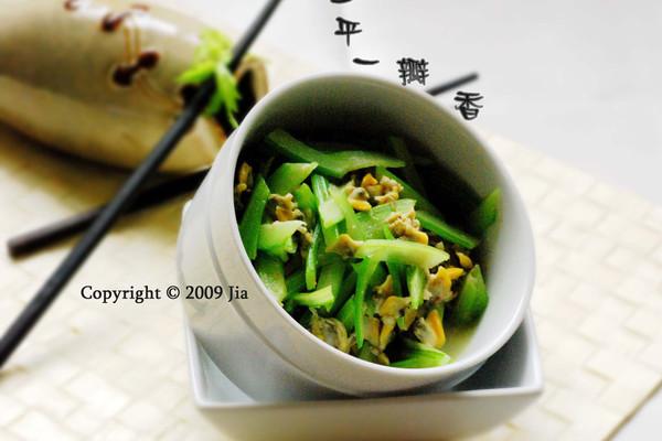 美丽厨娘-蛤蜊西芹的做法