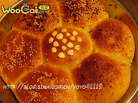 玉米花冠包----团团圆圆,和和美美!的做法