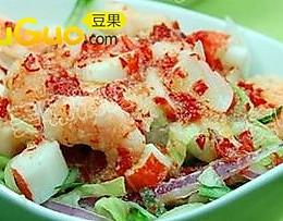 杂菜虾沙律的做法