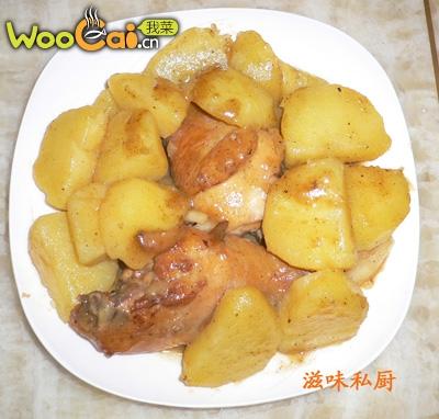 土豆炆鸡腿的做法