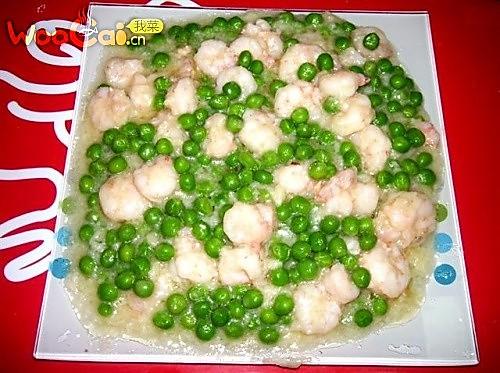 翡翠虾仁的做法