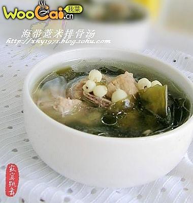 海带薏米排骨汤的做法
