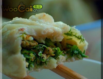 茴香鸡蛋虾皮水煎包的做法