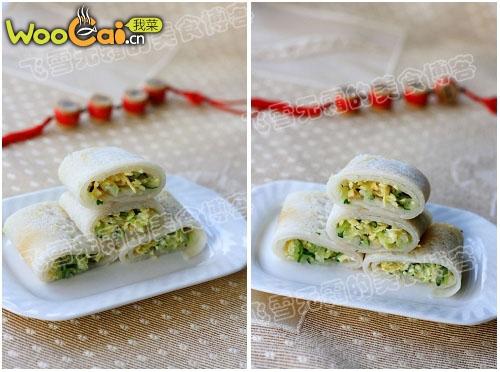 夏天来点清淡的饼:黄瓜鸡蛋卷饼的做法