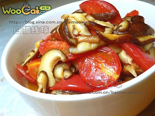 香菇炒番茄的做法