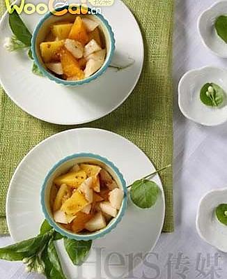 中秋美食之桂花时令鲜果的做法