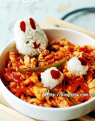 红酱焗鸡柳饭的做法