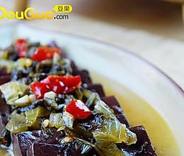 【酸菜烧血旺】营养的减肥清脂菜的做法