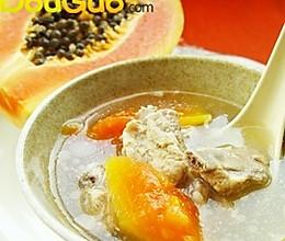 香柠木瓜排骨汤的做法