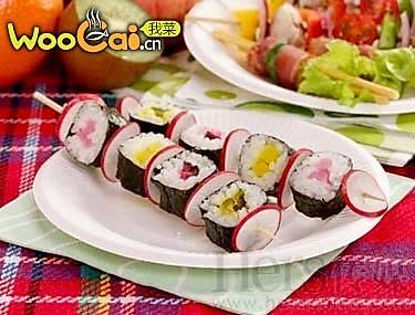 综合寿司串的做法