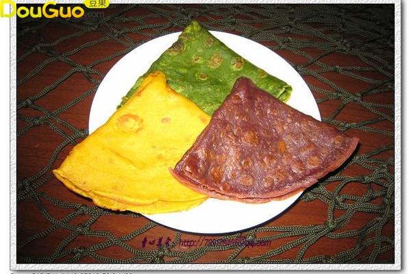 彩蔬咸食饼—户外美食的做法