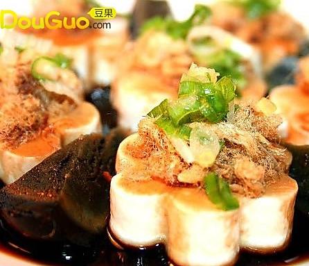 花朵松花豆腐的做法