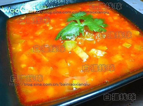 红甜椒健脑汤的做法