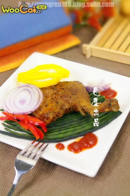 胡椒鸭腿——不用油的鸭腿吃法的做法