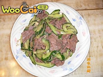 牛肉炒青瓜的做法