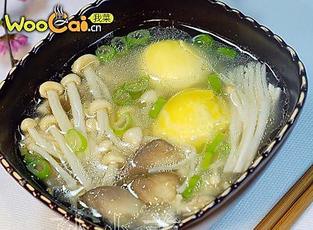 双菇烩蛋黄的做法