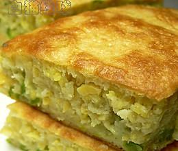 黄金搭档:小米香豆蛋饼的做法
