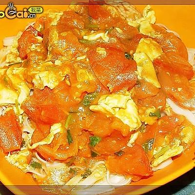 番茄炒蛋拌面