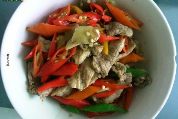 红椒炒肉——贵阳风味的做法