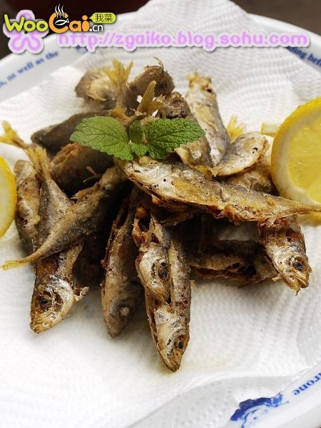 香酥竹荚鱼的做法