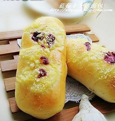 蓝莓卡士达面包的做法