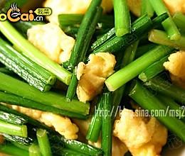 韭苔炒蛋的做法