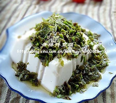 美丽厨娘------香椿拌豆腐的做法
