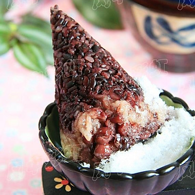 黑米红豆粽子