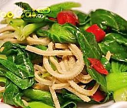 小油菜炒豆腐丝——豆果热推便宜实惠小菜的做法