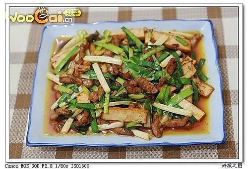 韭菜炒豆腐干的做法