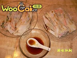 五彩猪肠粉的做法
