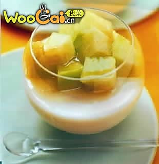 哈密瓜蜜汁乳冻的做法