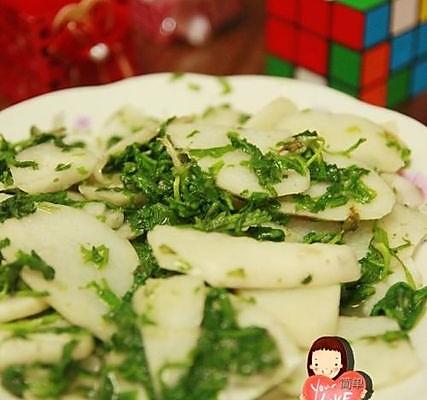 山药炒荠菜的做法