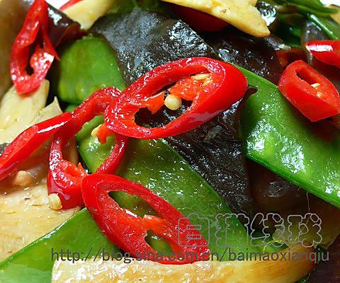 营养小菜:鲍鱼菇炒荷兰豆的做法