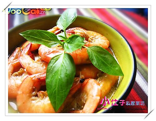 泰式青咖喱虾的做法