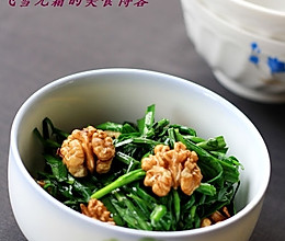 核桃炒韭菜的做法
