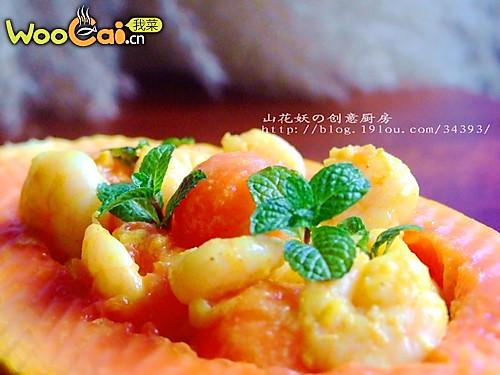 薄荷咖喱虾的做法